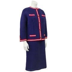 1960's Anne Rubin Dead Stock Crochet Chanel Style Suit
