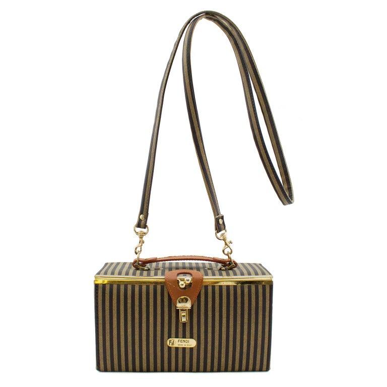 2c1bf2b7cf36 Fendi Zucca Stripe Box Train Bag For Sale at 1stdibs