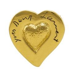 1980s Yves Saint Laurent Heart Pin