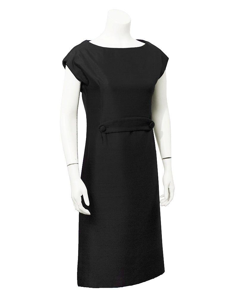 Women's 1950s Christian Dior Black Silk Ensemble For Sale
