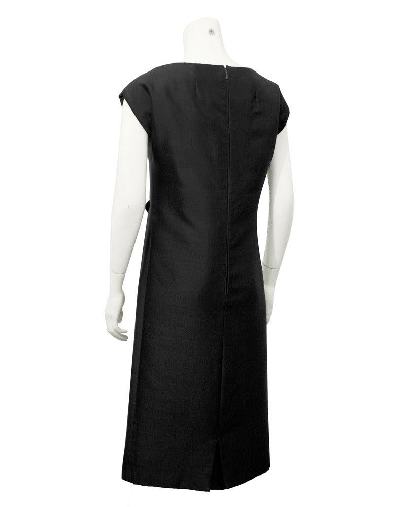 1950s Christian Dior Black Silk Ensemble For Sale 1