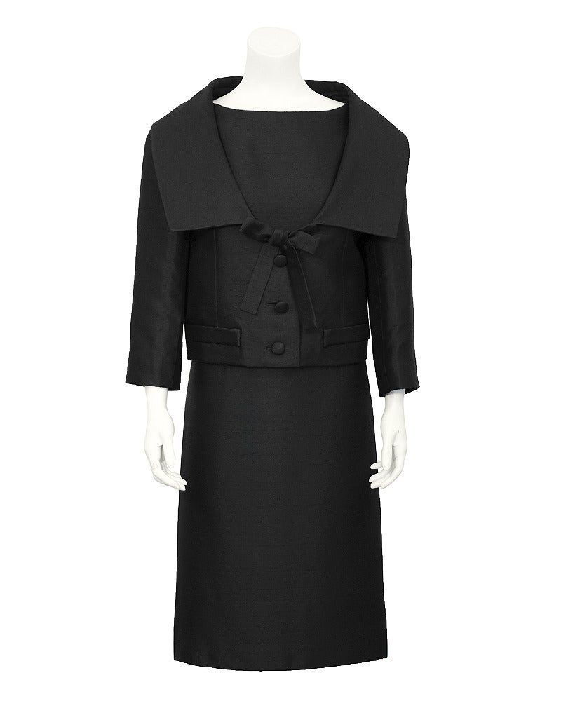 1950s Christian Dior Black Silk Ensemble 3