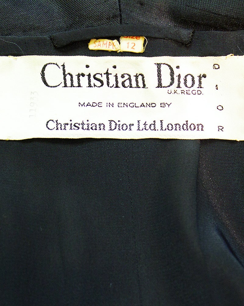 1950s Christian Dior Black Silk Ensemble 6