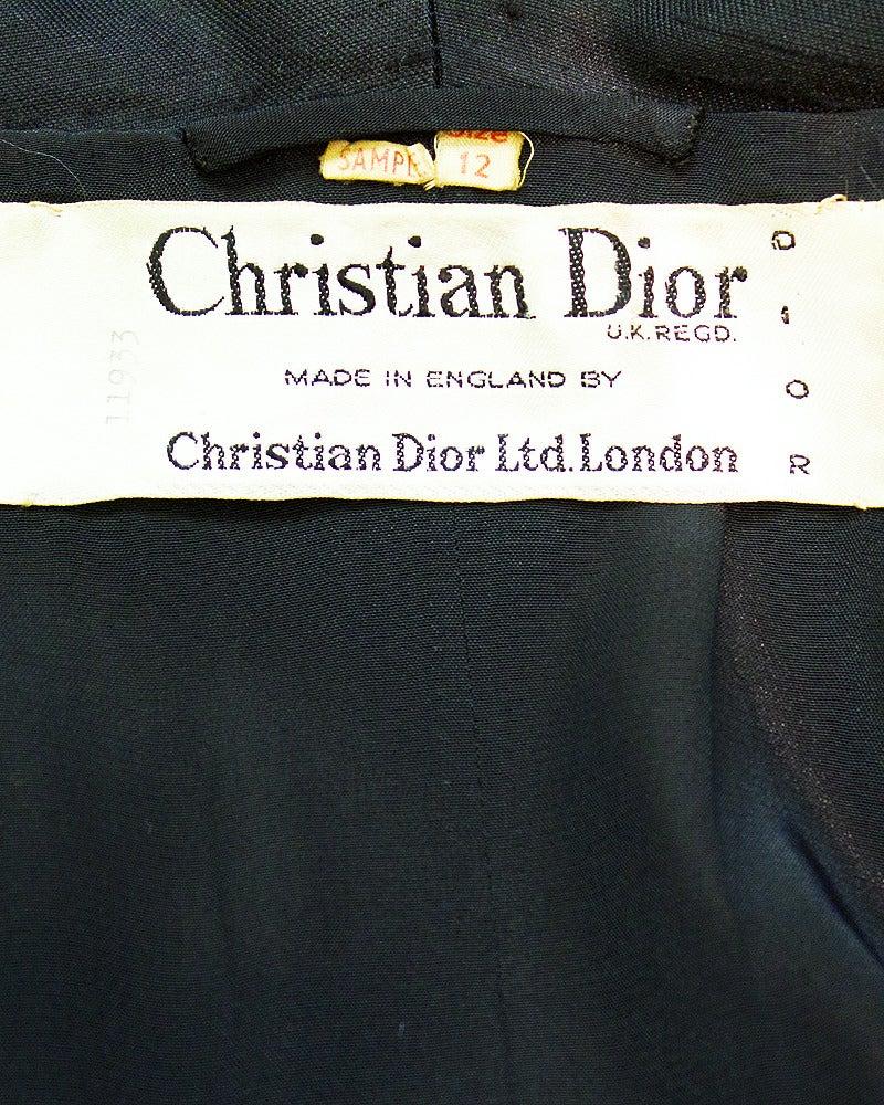 1950s Christian Dior Black Silk Ensemble For Sale 2