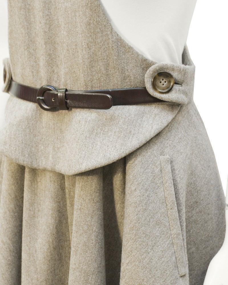 1960s Geoffrey Beene Oatmeal Wool 'Lollipop' Dress 4