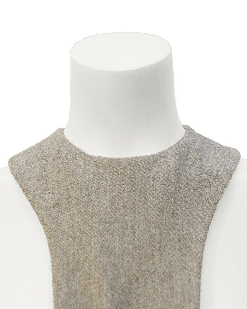 1960s Geoffrey Beene Oatmeal Wool 'Lollipop' Dress 5