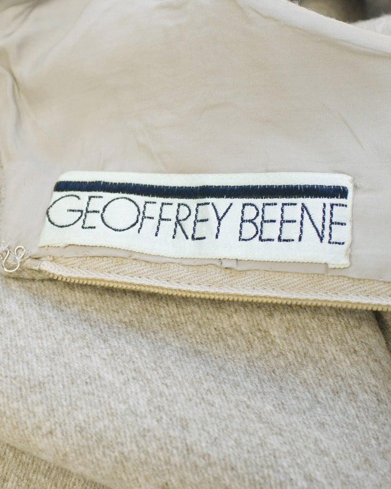 1960s Geoffrey Beene Oatmeal Wool 'Lollipop' Dress 6