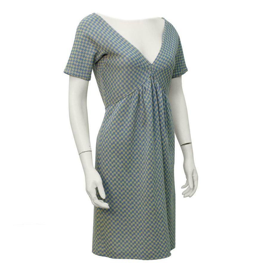 1960's Rudi Gernreich Blue Checkered Babydoll Dress