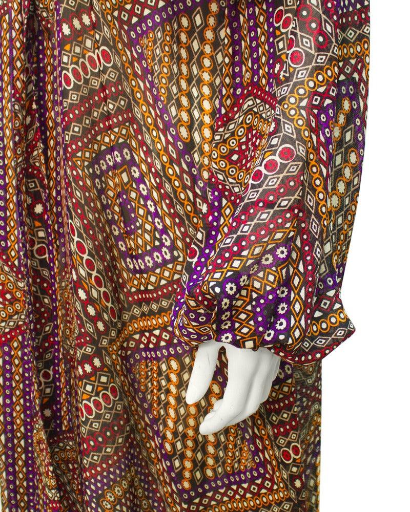 1960s Annacat Psychedelic Geo Print Maxi Dress 4