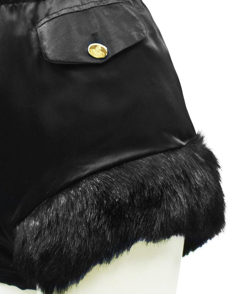 Vivienne Westwood Black Satin Hot Pants Circa 1980's 5