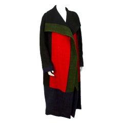 1970s Roberta Di Camerino Wool Color Block Coat