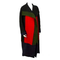 1970s Roberta Di Camerino Wool Color Block Coat