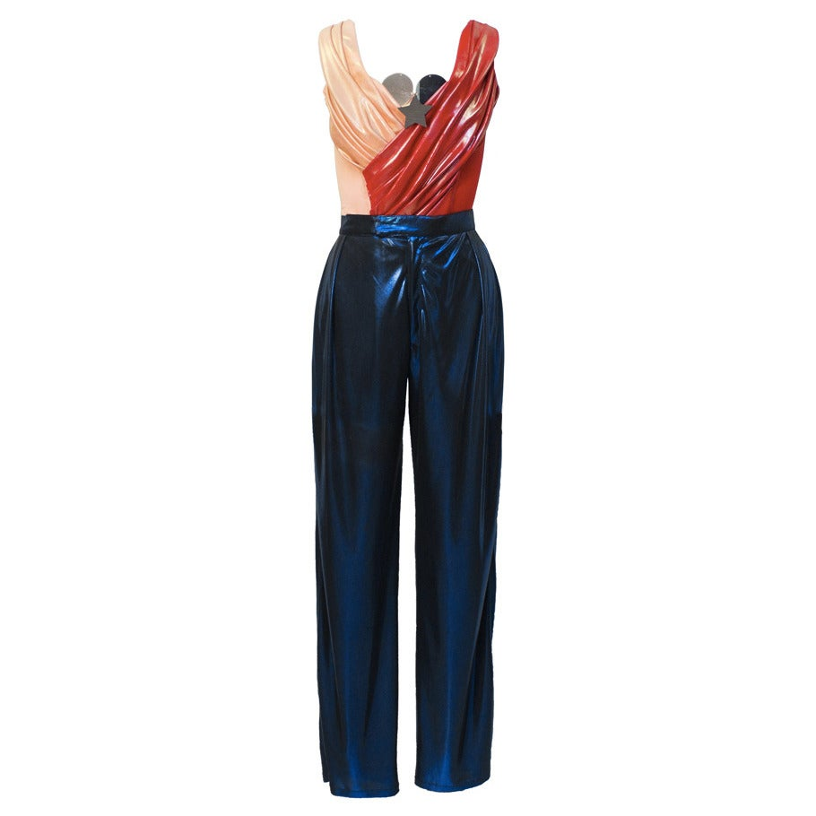 1980s Vivienne Westwood Pink, Red & Blue Wonder Woman Ensemble