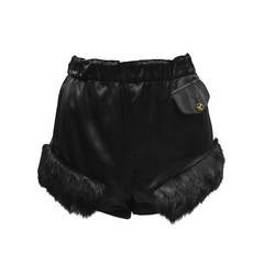Vivienne Westwood Black Satin Hot Pants Circa 1980's