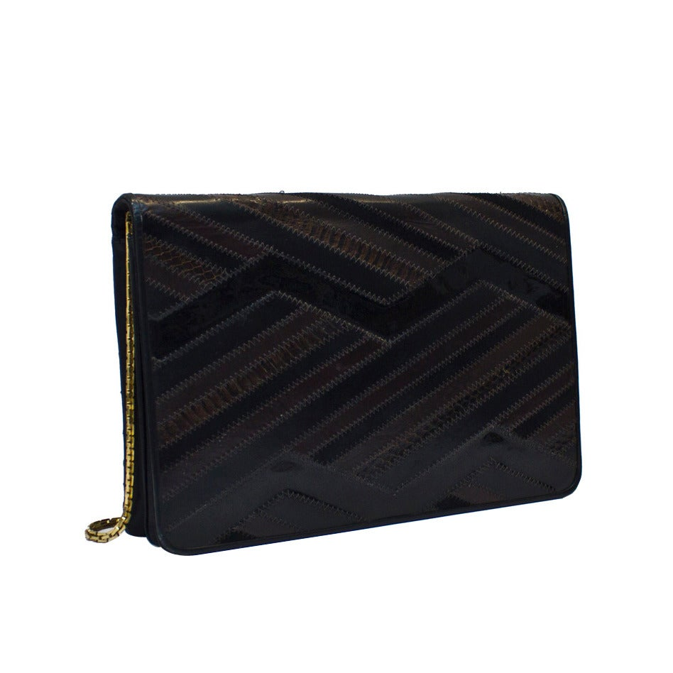 1980s Judith Leiber Luxe Patchwork Clutch For Sale