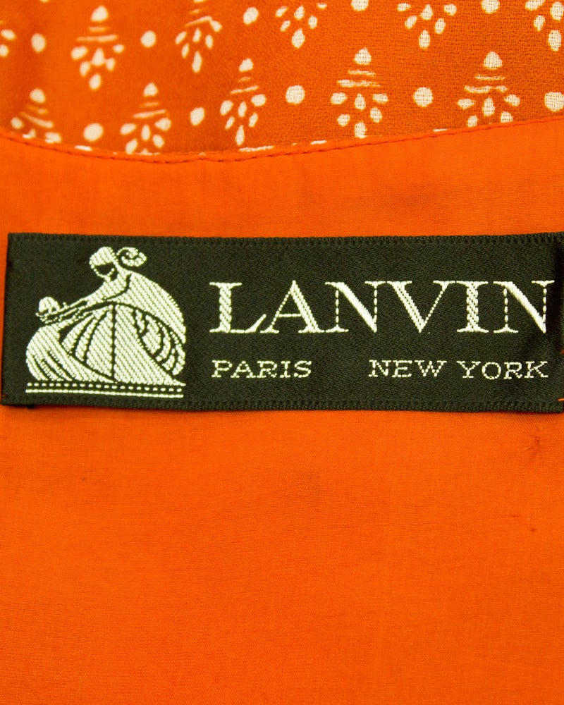 1970s Lavin Red Printed Dress with Belt 5