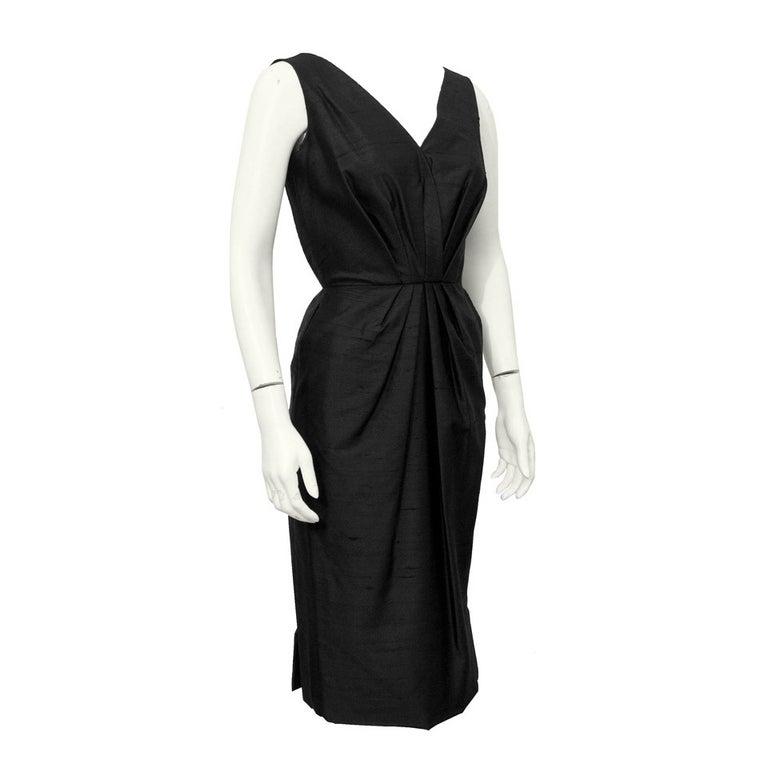 available for custom order Lavai Maria Handmade Black Raw Silk Dress