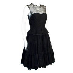 1960s Holt Renfrew Black Lace Dress