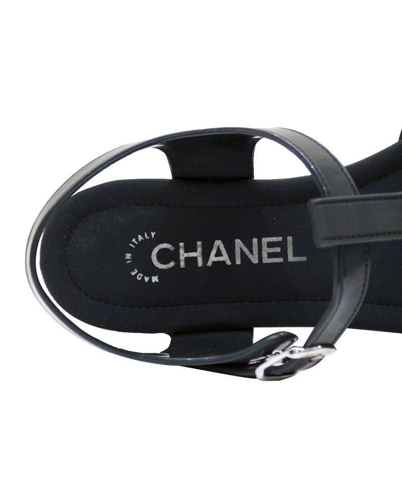 2012 Chanel Platform Jelly Sandals with Sockette 2