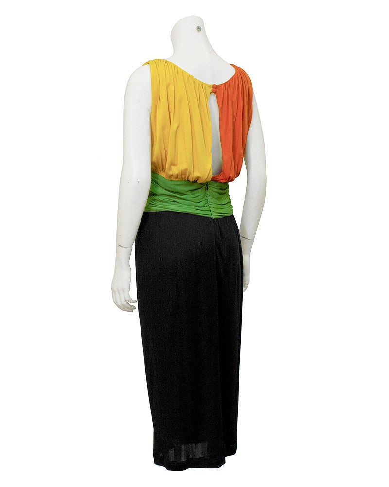 1960's Louis Feraud Tri-Color Jersey Dress 2
