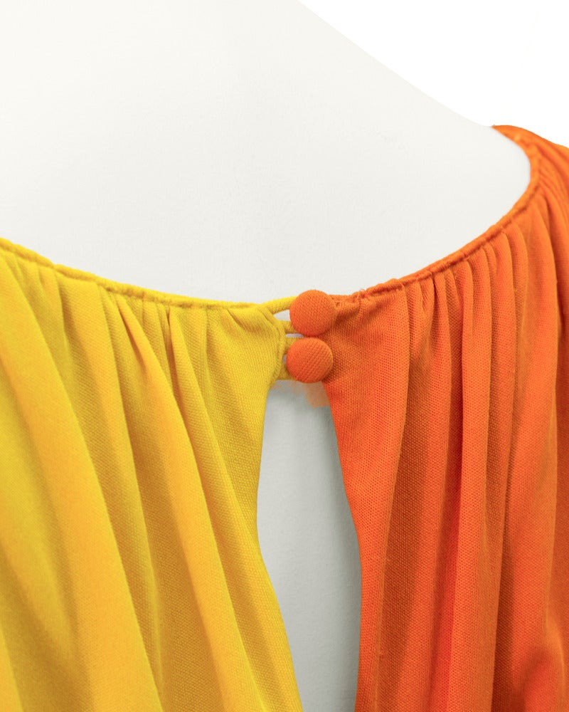 1960's Louis Feraud Tri-Color Jersey Dress 4