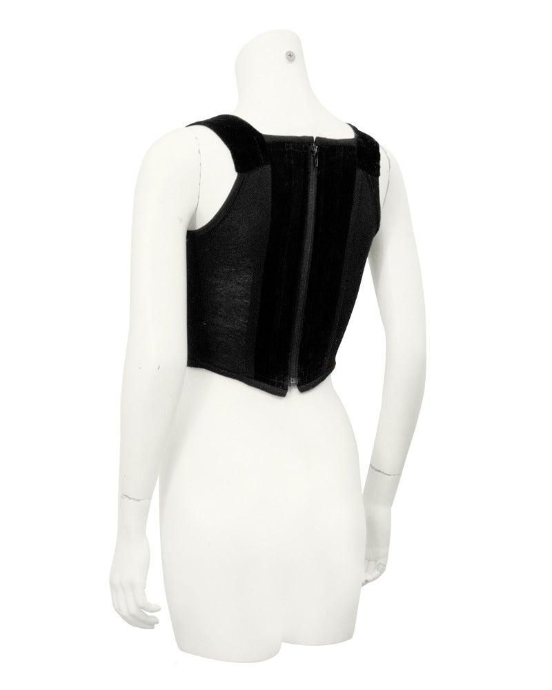 1980's Vivienne Westwood Black Velvet Bustier 2