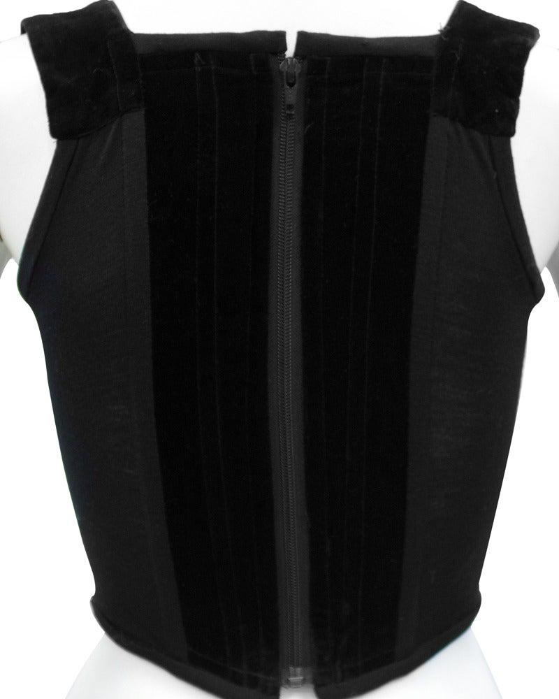Women's 1980's Vivienne Westwood Black Velvet Bustier For Sale