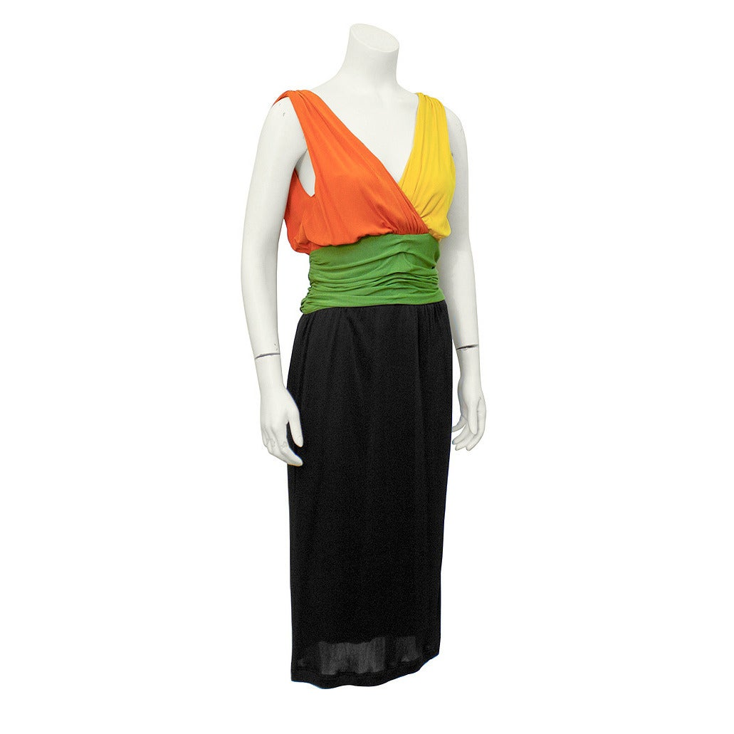 1960's Louis Feraud Tri-Color Jersey Dress 1