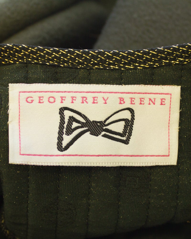 1960's Geoffrey Beene Military Swing Coat For Sale 2