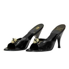1950's Herb Levine Black Patent Leather Spring-o-laters