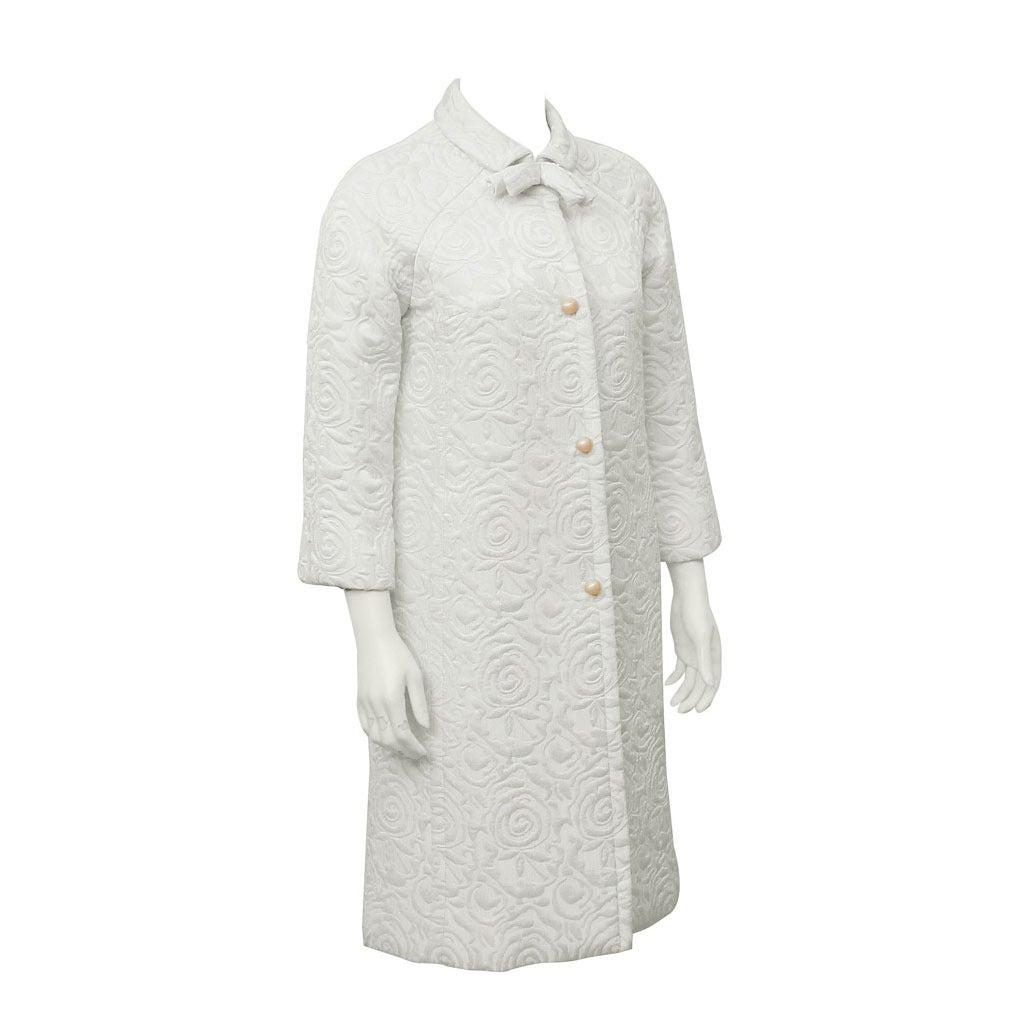 1960's Ulrique Cream Coat & Dress Ensemble