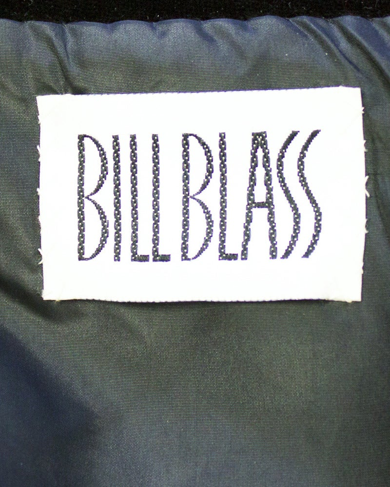 Women's 1980's Bill Blass Black & White Smocked Swing Jacket For Sale