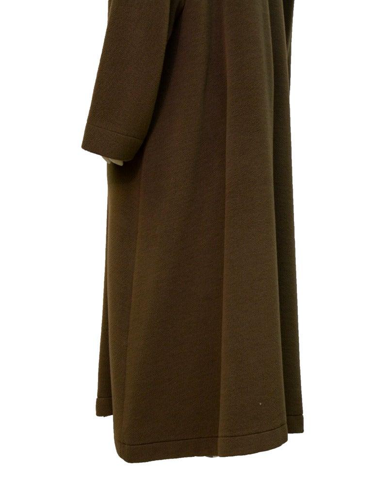 1980's Genny Brown Kimono Style Wool Coat 4