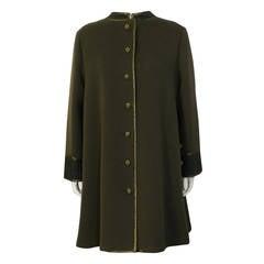 1960's Geoffrey Beene Military Swing Coat
