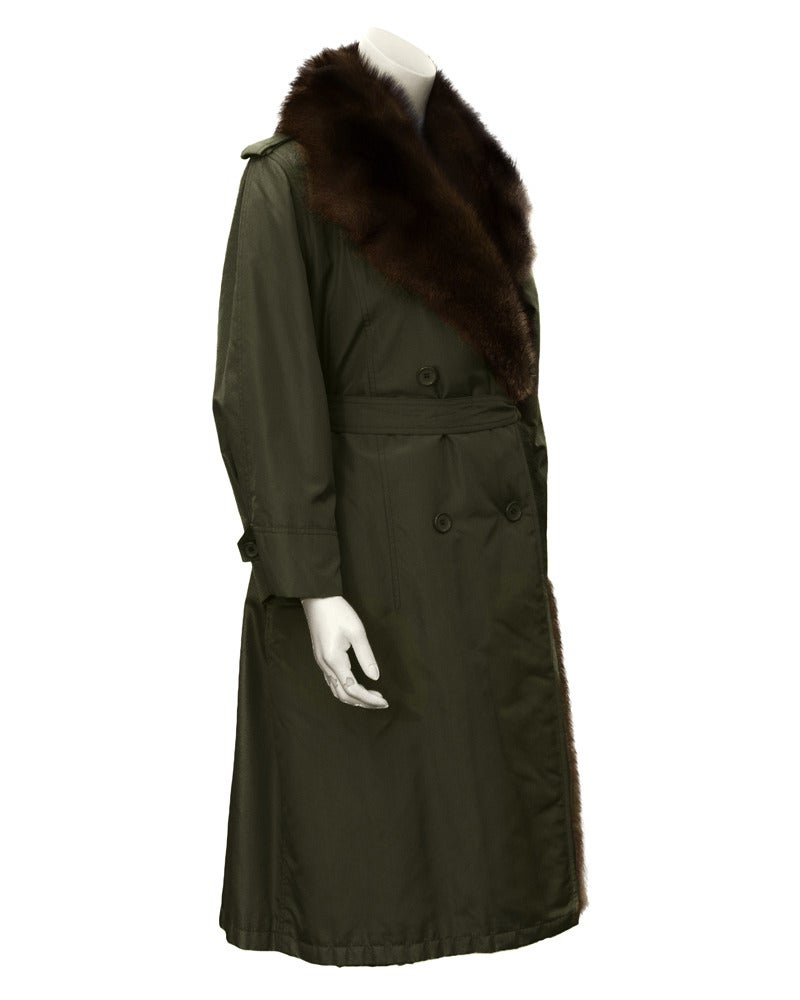 1980 Autumn/Winter Christian Dior Haute Couture Mink Trim Trench 2