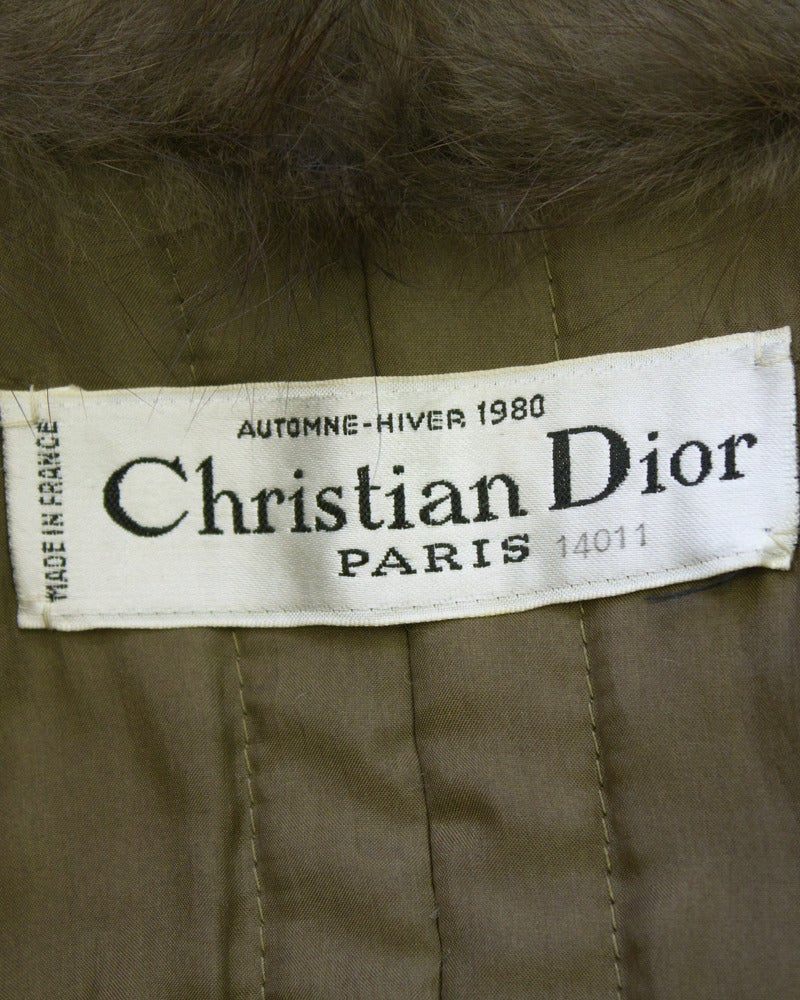 1980 Autumn/Winter Christian Dior Haute Couture Mink Trim Trench 6