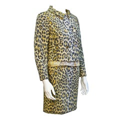 1960's Lee Hano Leopard 3 Piece Skirt Suit