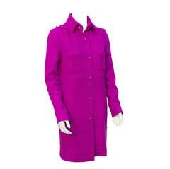 2007 Chanel Fuchsia Boucle Coat With Hood