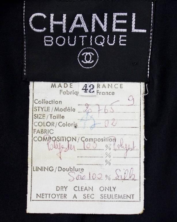 1990's Chanel Black Sequin Matrasse Jacket  5