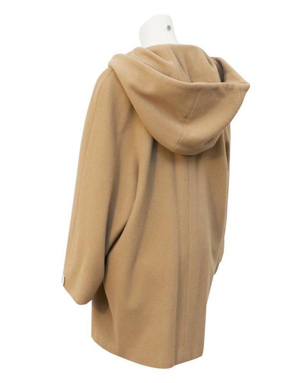 1980s Giorgio Armani Camel Toggle Swing Coat For Sale At 1stdibs