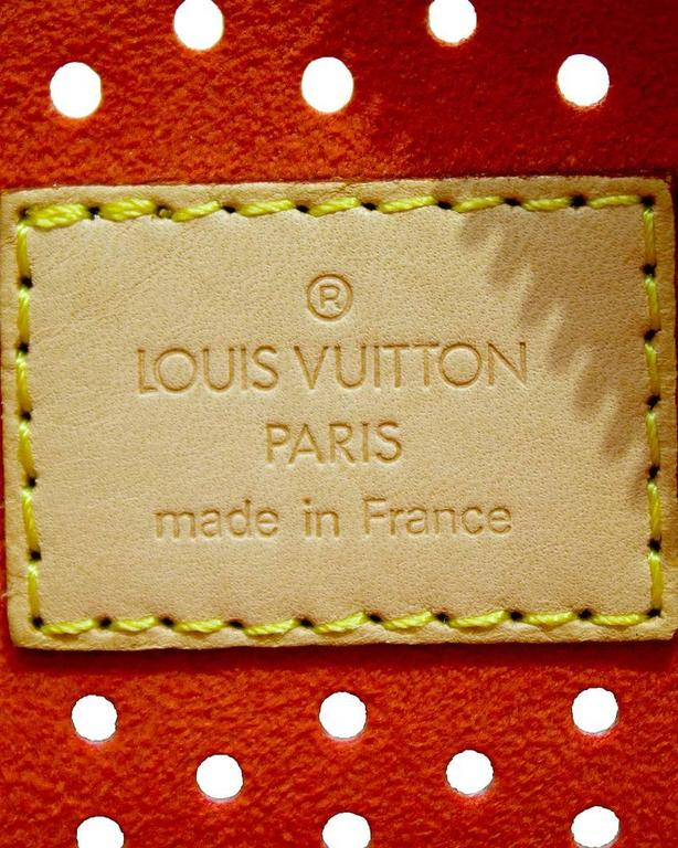 8a023f33c7fa 2006 Special Edition Louis Vuitton Perforated Speedy Bag at 1stdibs