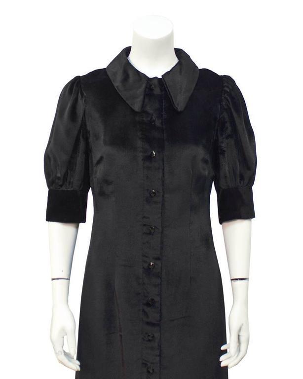 1960's Annacat Black Velvet Maxi Dress  In Excellent Condition For Sale In Toronto, Ontario