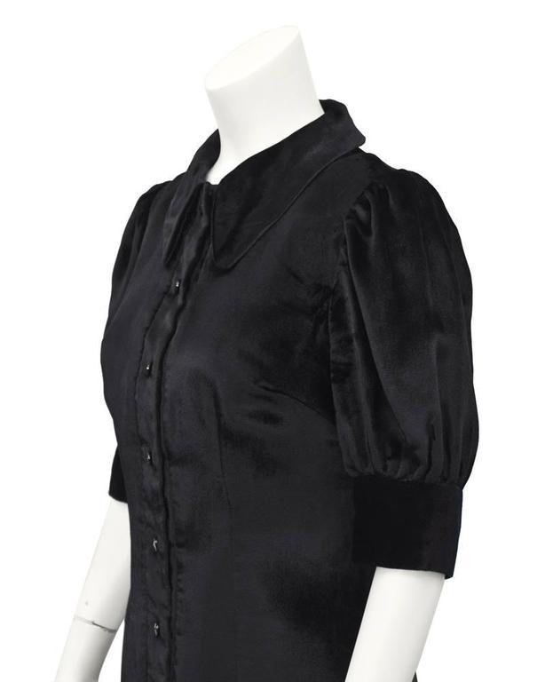 Women's 1960's Annacat Black Velvet Maxi Dress  For Sale