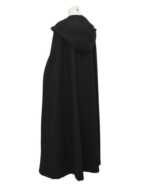 1960's Marrian-McDonnell Black Wool Cloak 2