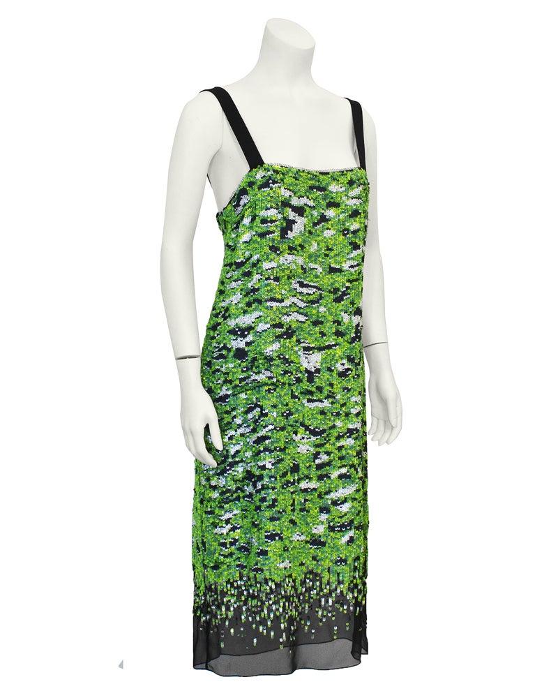 Proenza Schouler Green Sequin Camo Dress at 1stdibs