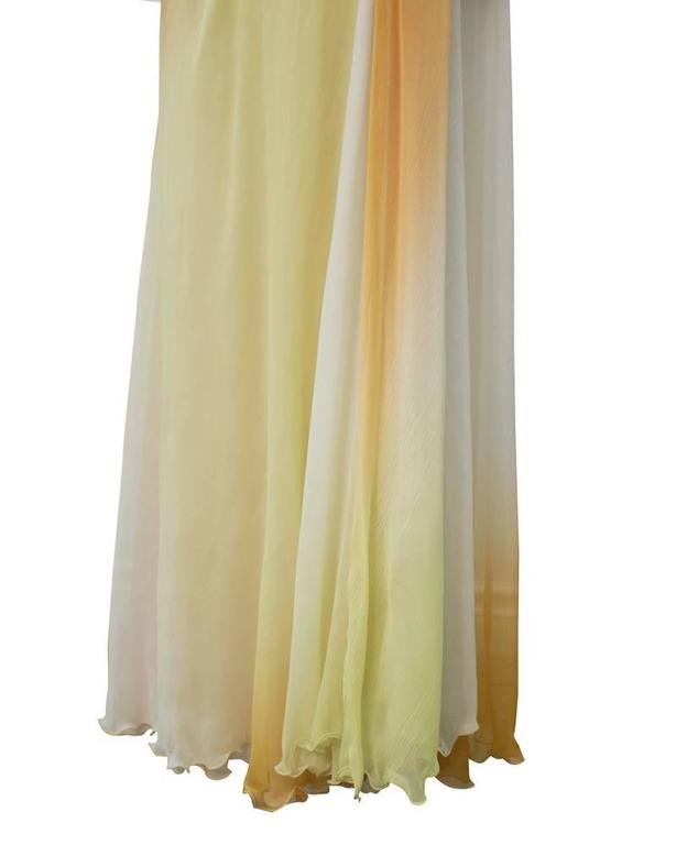 Early 2000's Versace Tan Ombre Gown For Sale 1