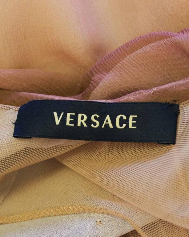 Early 2000's Versace Tan Ombre Gown For Sale 2