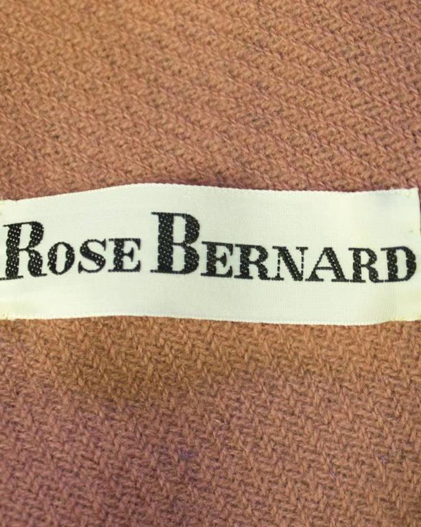 1960's Rose Bernard Blue and Rose Plaid Cape  6