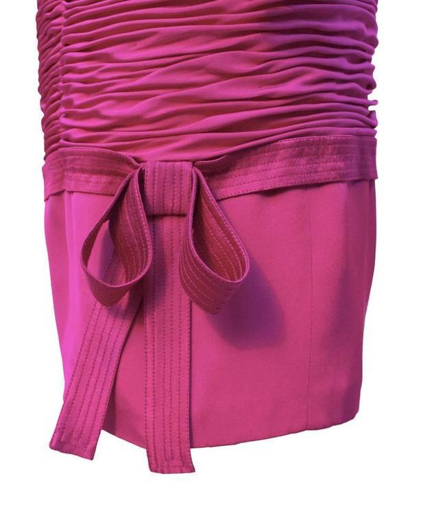 1990's Versace Magenta Wiggle Dress 4