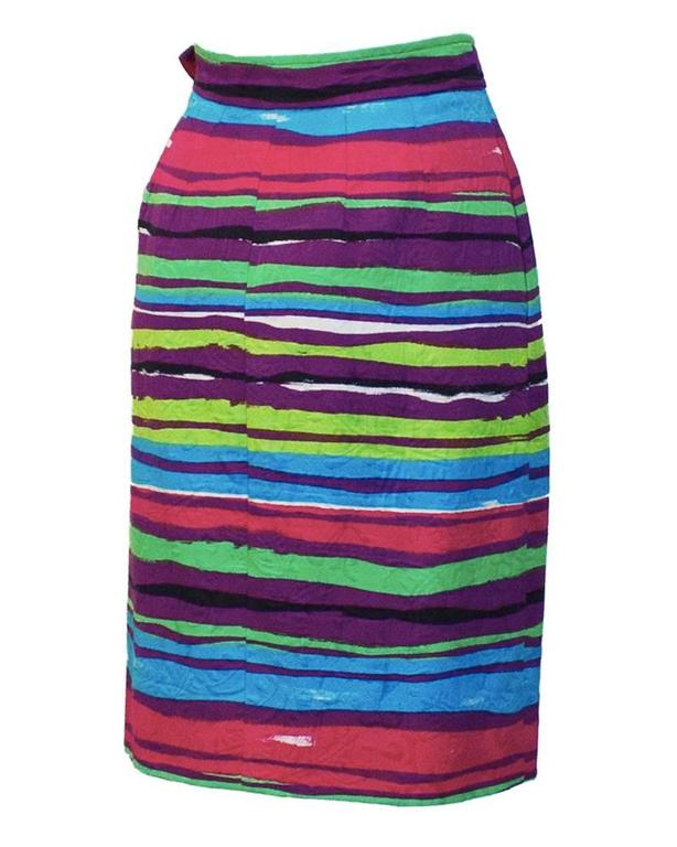 Purple 1990's Christian Lacroix Multi-colored Cocktail Skirt   For Sale